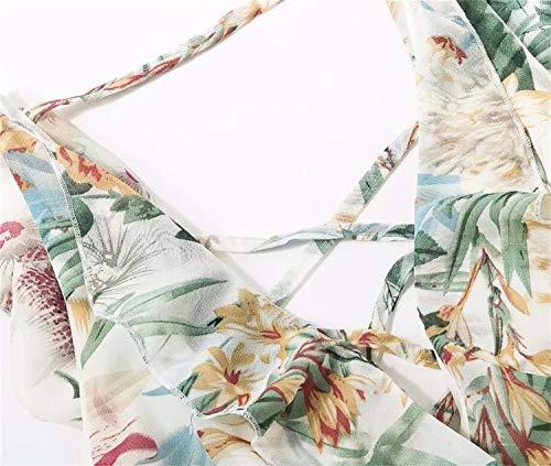 Capi Vestito moda abbigliamento stampa fodera a elegante Abito scollo White lustrini Abito V con a Abito a line con di gonna Abito alla 01Hr0S
