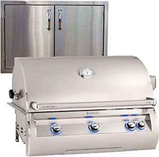 "product image for Fire Magic Echelon Diamond E790i 36"" Propane Grill w/Analog Thermometer and Made in USA 36"" Best of Backyard Double Door"