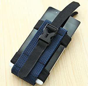 Best sports Phone armband armbands holder bag keys storage for running workout for iphone 4 4s 5 5s 5c Samsung HTC LG SONY (DARK BLUE)