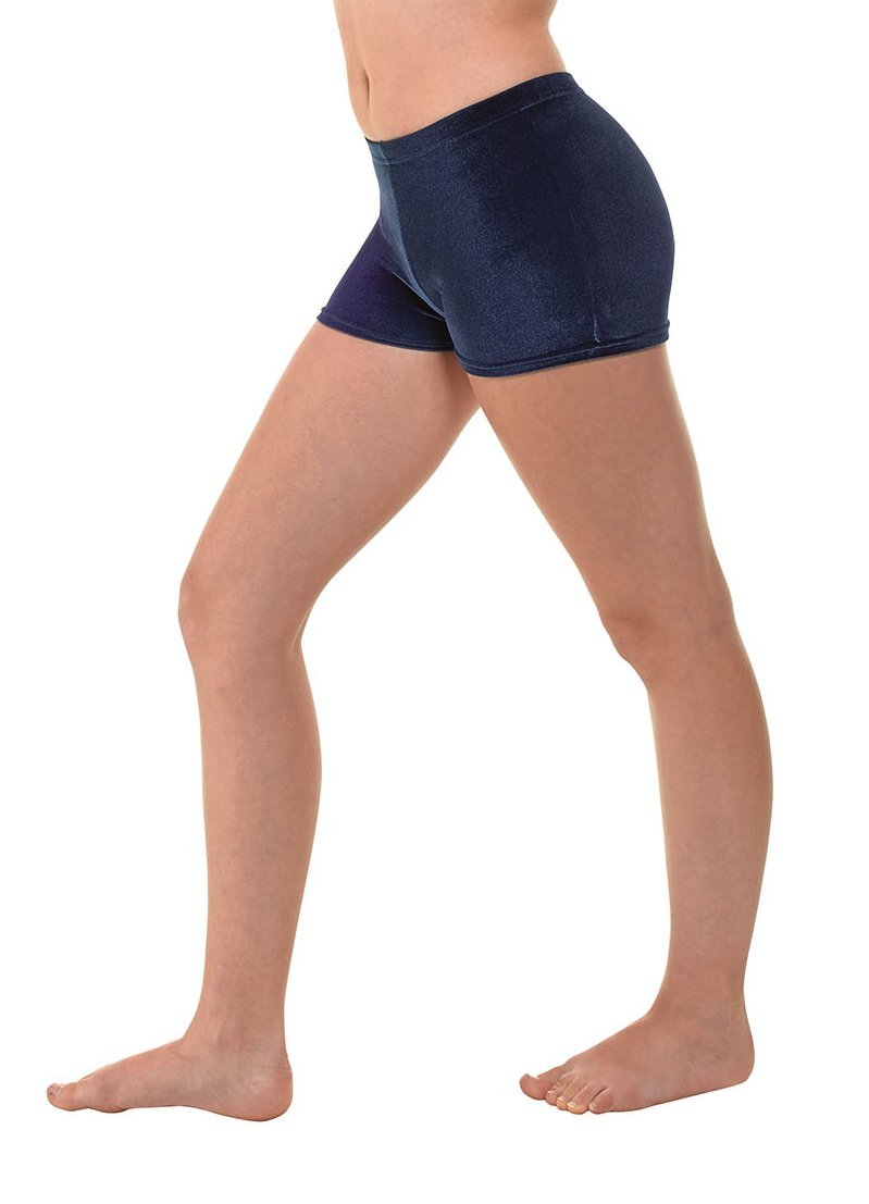 Micro Hipster Shorts Hot Pants Smooth Velvet Gymnastics Dance Freestyle Tappers and Pointers