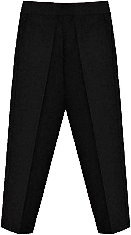 My Choice Stuff Girls Teflon Half Elastic Waist Pants Boys School Wear Uniform Pants Trouser