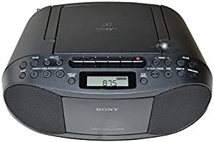 Sony CD Radio Cassette Recorder Bundled with AC Power Auxiliary Cable for iPods iPhones Smartphones MP3 Players Xtech CD Lens Cleaner & HeroFiber Ultra Gentle Cleaning Cloth