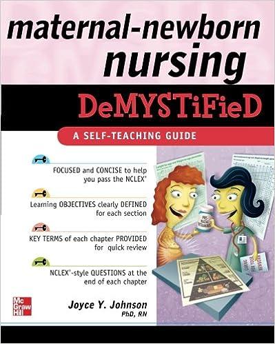 Maternal newborn nursing demystified a self teaching guide maternal newborn nursing demystified a self teaching guide 1st edition fandeluxe Images