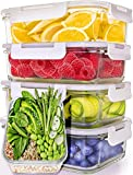Glass Meal Prep Containers [5-Pack,30oz] - Glass Food Storage Containers with Lids