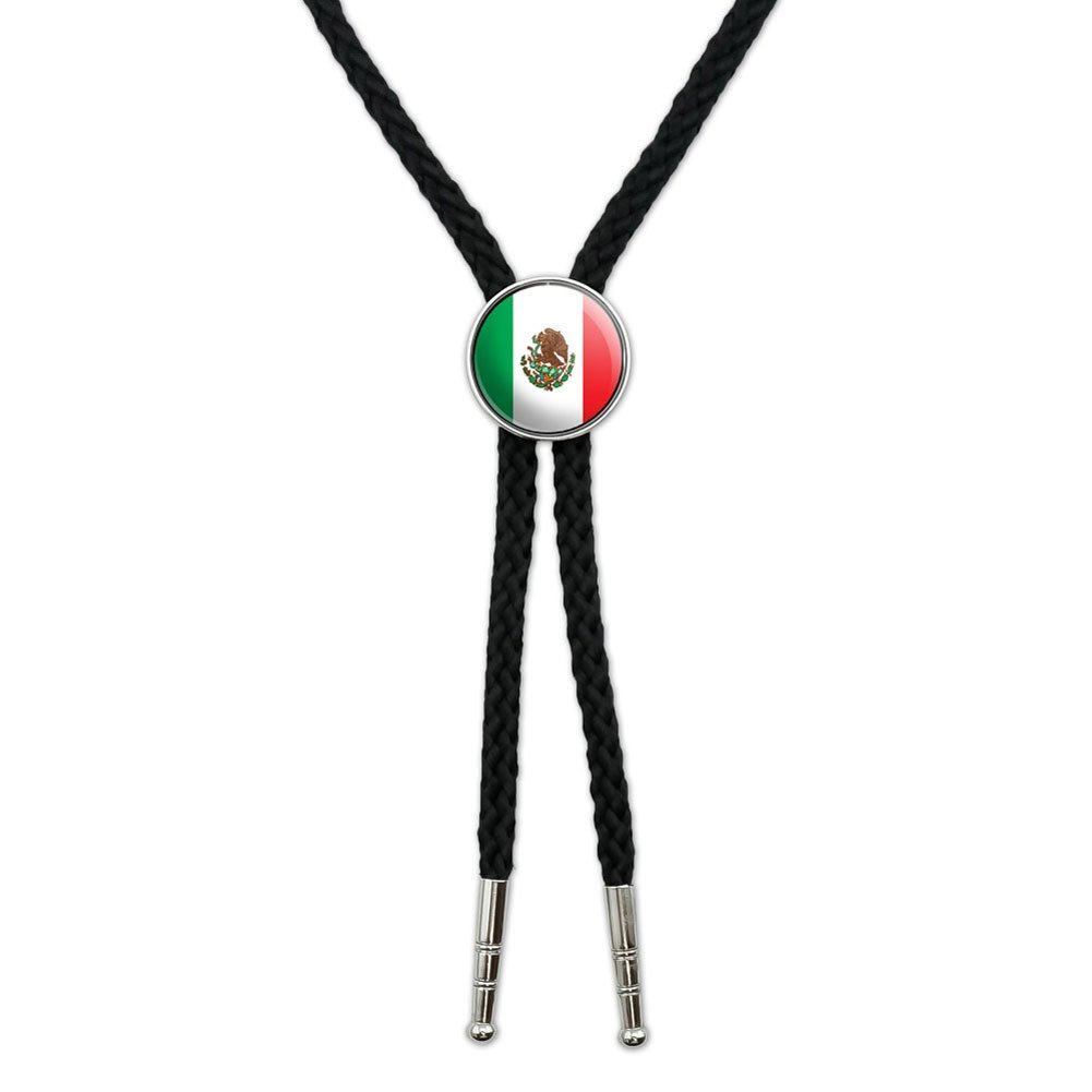 Mexico Mexican Flag Western Southwest Cowboy Necktie Bow Bolo Tie Graphics and More BOLOTIE.PL.0407