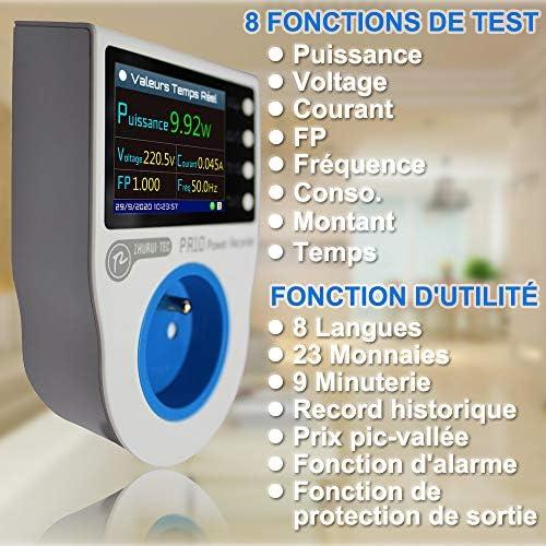 pr10-c eu16/a Home Power METERING Socket//maison compteur d/énergie//puissance//graveur de medidores d/électricit/é//16/unit/és de la monnaie