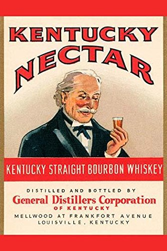 Posterazzi Poster Print Collection a Bottle Label for Kentuck Straight Bourbon Whiskey Sold Under the Name Kentucky Nectar Unknown, (24 x 36), ()