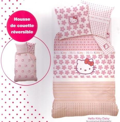 Juego de cama funda de edredón Reversible Hello Kitty Daisy ...
