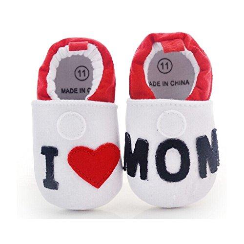 """Patucos para bebé, diseño con texto """"J'aime maman 12 a 18 meses, 9 y 12 meses de 3 a 9 meses Multicolor multicolor Talla:9/12 mois"""