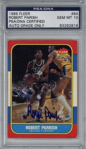 Robert Parrish Signed Autographed 1986 Fleer Basketball Card PSA/DNA 10 Auto ()