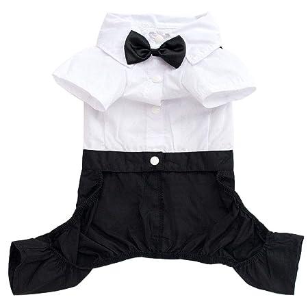 MElnN - Traje de algodón para Perro, Corbata de moño, Corbata de ...