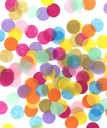 LIMITLESS Colorful Confetti - Premium 5000 Pieces 1-Inch Round Tissue Paper Confetti - Specially Crafted For Unicorn (Tissue Paper Confetti)