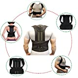 Comfortable Back Brace Posture Corrector and Back Support Brace Improve Bad Posture Back Pain Relief for Men and Women (L)