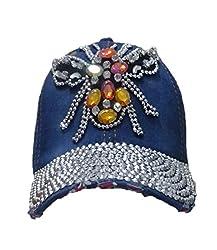 Crystal Butterfly baseball rhinestone cap