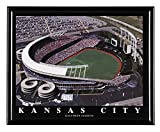 Kansas City Royals Kauffman Stadium Framed Aerial Photo F7560A