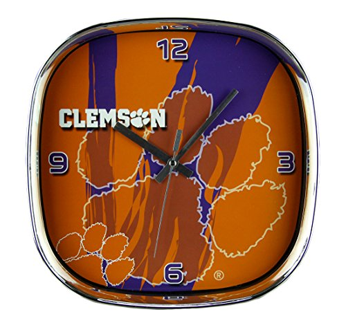 Tigers Chrome Bar Table - The Memory Company Clemson University Tigers Glass Face Wall Clock Chrome Finished Frame