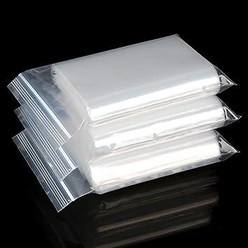 100 bolsas de plástico transparente de polietileno con ...