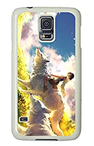 Brian114 Samsung Galaxy S5 Case, S5 Case - Customized White Hard Back Case Cover for Samsung Galaxy S5 Wolf Company Top Quality Hard Case for Samsung Galaxy S5 I9600