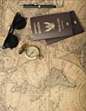 2017, 2018, 2019 Weekly Planner Calendar - 70 Week - Travel Map: Old World Map on Leather, Compass, Thailand Passports