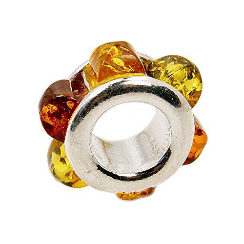 Baltic Amber Silver Charm - 4