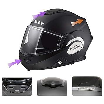BQT LS2 Casco De La Motocicleta Casco del Tirón Casco Completo/Casco De Fibra De