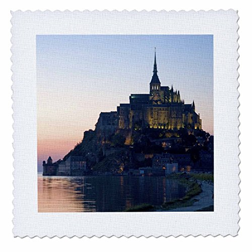 3dRose qs_81505_2 Mont Saint Michel, Basse-Normandie, France Eu09 Dfr0451 David R. Frazier Quilt Square, 6 by 6