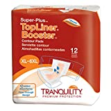 Tranquility TopLiner® Disposable Absorbent Booster Contour Pads for Bowel Incontinence - Super-Plus (32'' x 14'') - 192 ct