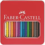 Faber-Castell 110916 Crayons de couleur Jumbo Grip, boîte métal 16x