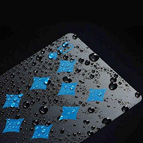 Carte da gioco in PVC impermeabile, carte da poker classiche o per trucchi e spettacoli di magia, per uso interno ed esterno, colore: completamente nero
