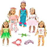 """ZITA ELEMENT 11 Pcs Clothes Outfits for American Girl Doll Cosplay 