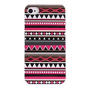 (CASEI)Hi-Q Joyland Red Black Repeating Pattern ABS Back Case for iPhone 4/4S