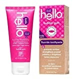 Hello Natural Fluoride Toothpaste for kids, Bubble Gum, 4 oz - 2pc by Hello