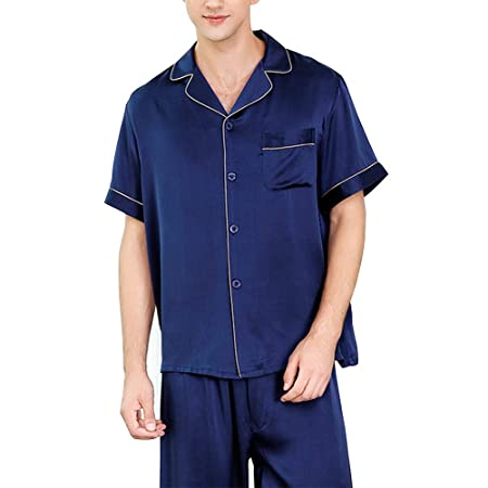 HONGNA Conjunto De Pijamas For Hombre Camisa Azul Oscuro ...