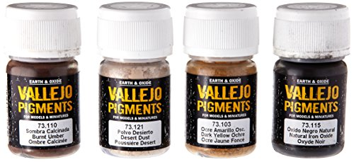 - Vallejo Dust & Dirt Pigment Set, 4x35ml