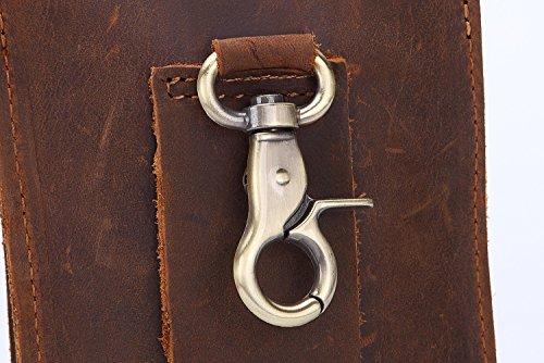 Première Pour Et Cuir Hommes Vintage Portefeuilles Avec nbsp;petits Brown Taille Ceinture fonctions Couche Multi Pinces Sacs Yqxr Sac En De YSBq1Y8w