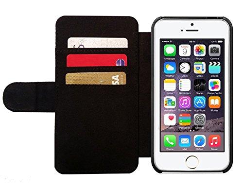 Leder Flip Case Tasche Hülle für Apple iPhone 5/5S - Die Welt Der Delfine by Gatterwe