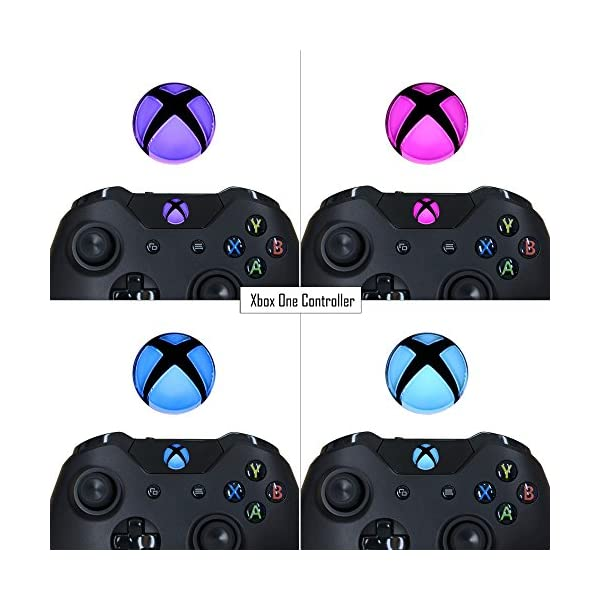 eXtremeRate Custom Home Guide Button LED Mod Stickers for Xbox One/S/Elite/X Controller with Tools Set - 40pcs in 8 Colors 5