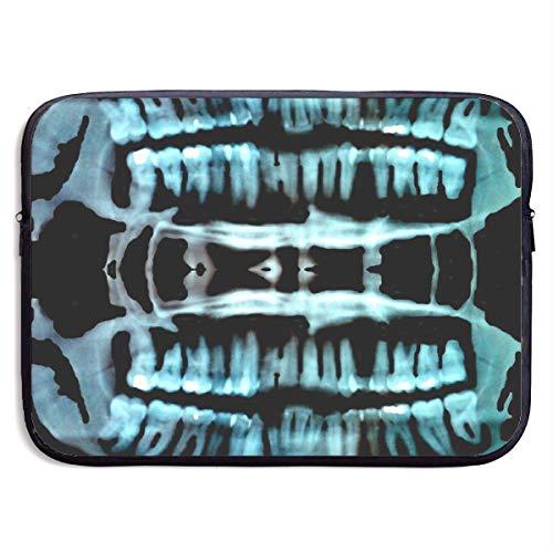 HFAYJ Halloween Spooky Skeleton Teeth 13/15 Inch Laptop Sleeve Bag for MacBook Air 11 13 15 Pro 13.3 15.4 Portable Zipper Laptop Bag Tablet Bag, Water Resistant, Black]()