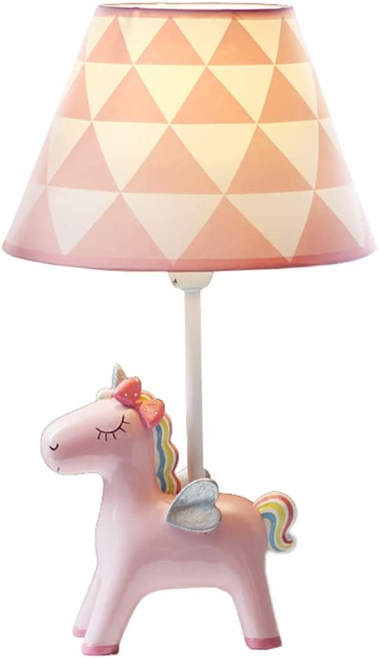 Dimmable Pink Unicorn Table Lamp Princess Room Children's