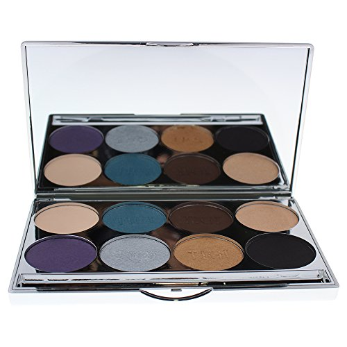 (TIGI Cosmetics High Density Eyeshadow Palette, Midnight Black, 0.9 Ounce )