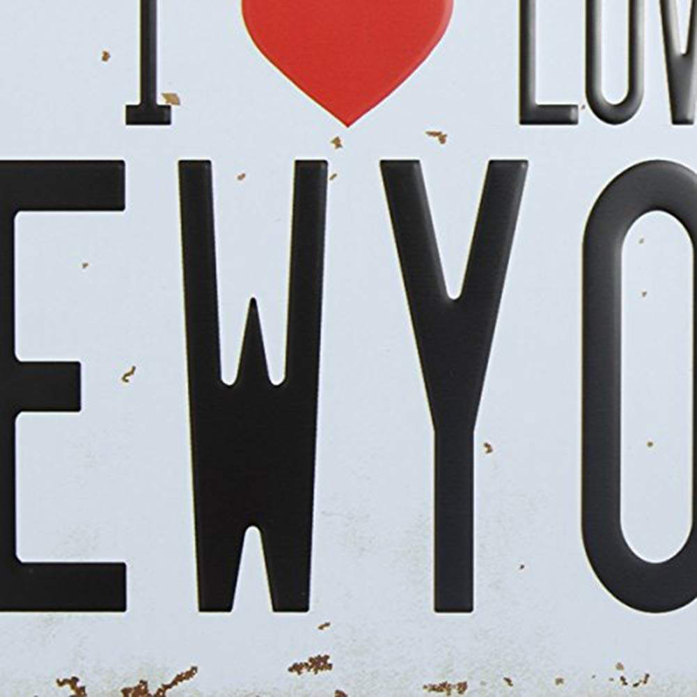 Eureya I Love New York automatique de voiture de plaque dimmatriculation Tag Home//CAFE Bar//Pub//restaurant//salon D/écoration murale vintage plaque 6x12