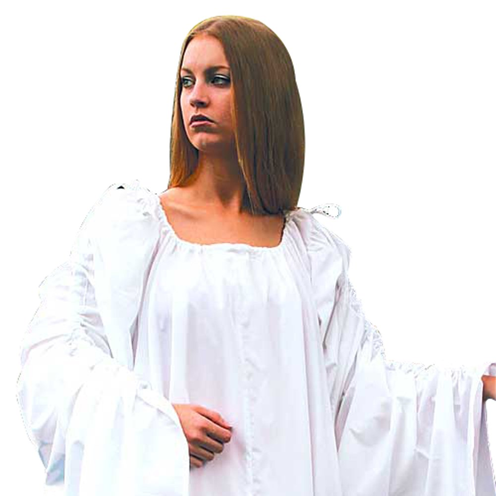Renaissance Long Celtic White Tied Sleeves Chemise (Small/Medium) - DeluxeAdultCostumes.com