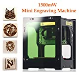 Laser Engraver Printer, 1500mW DIY USB Mini Engraving Machine, CNC Router Cutting Carver Off-line Operation for Art Craft Science, High Speed Laser Engraving Cutter