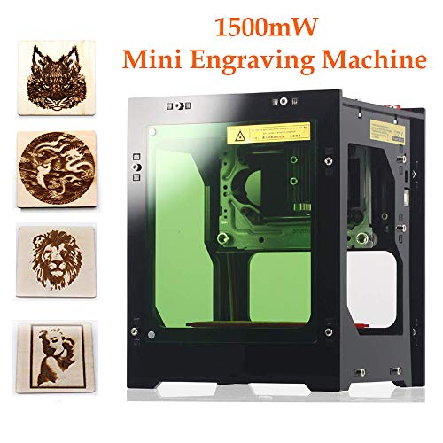 - Laser Engraver Printer, 1500mW DIY USB Mini Engraving Machine, CNC Router Cutting Carver Off-line Operation for Art Craft Science, High Speed Laser Engraving Cutter