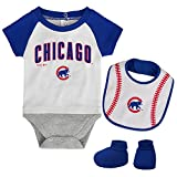 Outerstuff Chicago Cubs MLB 3-Piece Bodysuit Set
