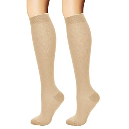 cc29e061c5 HardyDev Graduated Compression Socks for Women & Men Boost Endurance Speed  Performance Recovery Therapeutic Support Stockings
