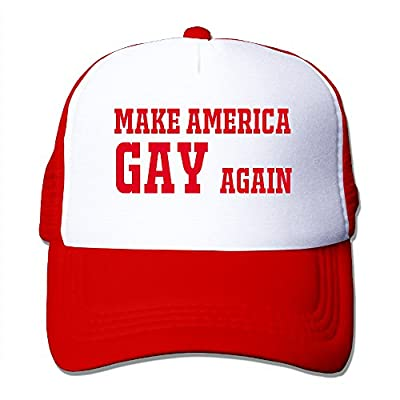 Make America Gay Again Trucker Hat Men/Women Mesh Cap Adjustable Snapback Strap