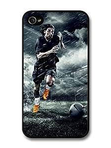 Zlatan Ibrahimovic Running Orange Football Player case for iPhone 4 4S A074