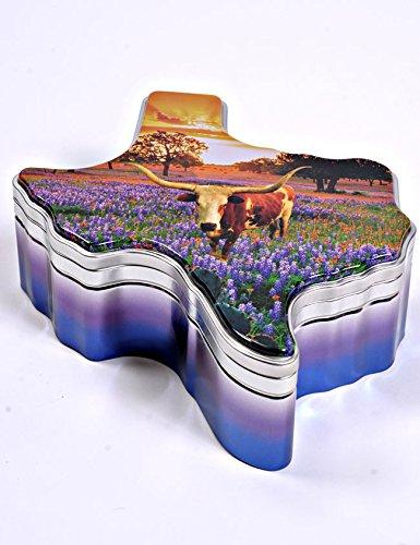 Eileen's Pralines Praline Bars Texas Gift Tin (Texas Longhorn) (Longhorns Candy Texas)