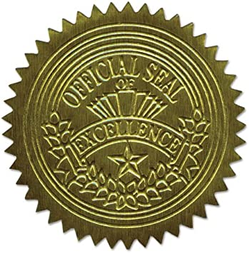 Excellence Seal No 2 with ribbons 12 Pcs
